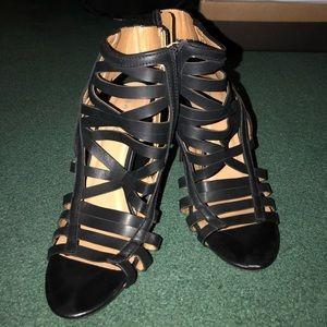 BAMBOO Shoes - Bamboo black medium heels